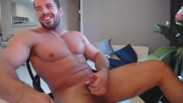 Good Looking Guy Having a Good Time Jacking Off