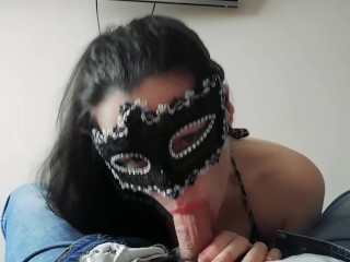 Sucks dick husband and she likes it