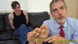 Straight Jock Bondage Foot Tickling - Aiden Valentine - Richard Lennox