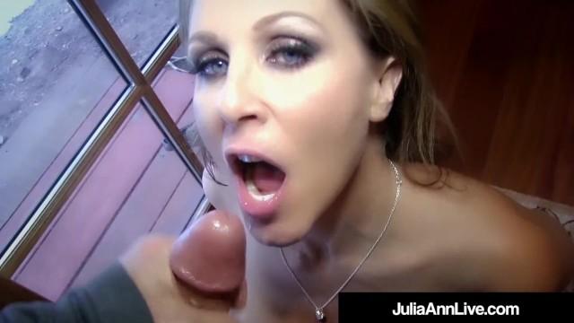 Expert Cock Sucker MILF Julia Ann Blows your Dick POV!