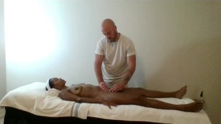 Ebony-MILF-massaged-and-finger-banged-by-muscled-masseur-SiaBigSexy
