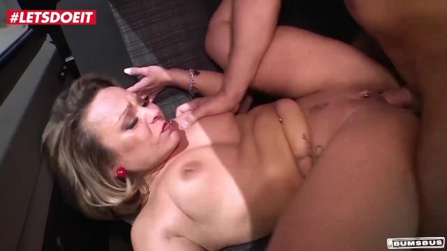 LETSDOEIT - German Blonde d To Orgasm On Bus 17
