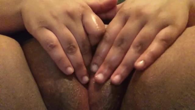 Guy Fingering Ebony Pussy