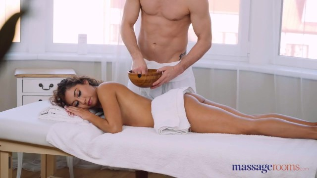 Massage Rooms Beautiful Mexican Melody Petite oily footjob and hard fuck 7