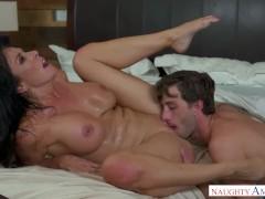 Hot Milf Reagan Foxx fucks cock