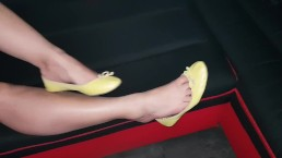 Sexy latina girl feet and shoes teasing