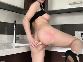 Teen slut preparing anal for your big dick - Mini Diva