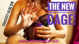 The new cage! - Premium version! Marie Kaefer - Chastity Vlog Day 018