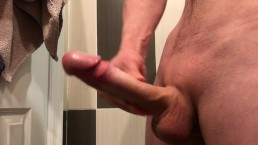 Jacking off this monster. Swallow my cum