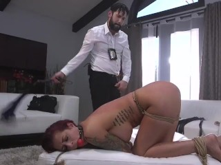 Dirty Cop Punishes Trespassing Tana Lea