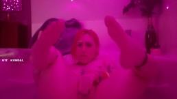 Pink Bath Masturbation Foot Focused