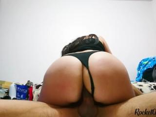 Girl anal riding...
