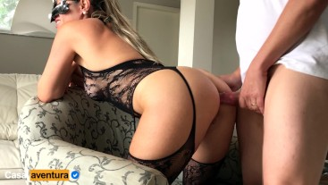 CasalAventura - Gets excited watching workers,then she did best Anal ever!