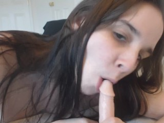Sucking Small Dick Cum All Over