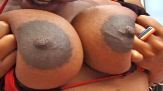 Big areola pregnant black amateur
