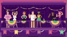 Dick and Jane Let the Good Times Roll at Mardi Gras