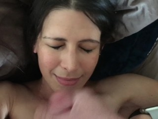 Hot amateur MILF cumshot and facial compilation POV and swallow