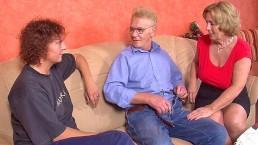 Two grannies please grandpa