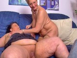 Obese and mature threesome