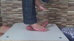 Full weight cock and balls trampling - stomping - torture