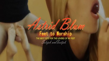 The best place for foot lovers. Astrid Blum. Feet to worship. The best Feet