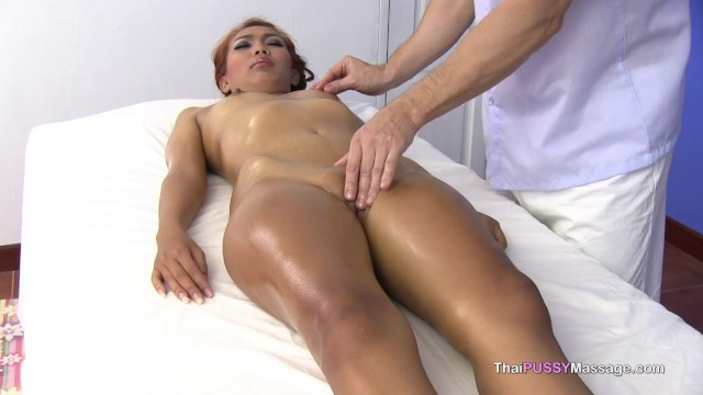 Asian female massage customer gets more than she expected