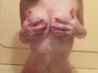 Washing my Perfect Perky Tits