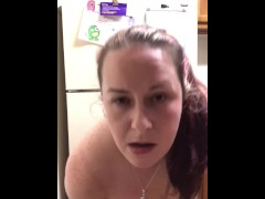 Mom struggles to get dildo in her ass part 2
