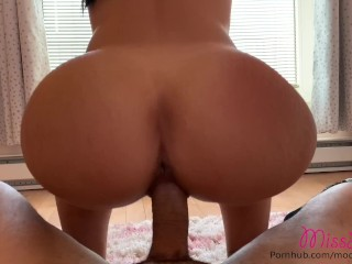 School teacher gets fucked and cummed on by her student's dad
