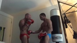 gut punch against heavy bag