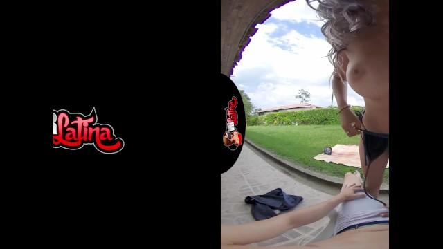 VRLatina.com - Big Tits Purple Hair Latina Outdoor Fun 5K VR 19