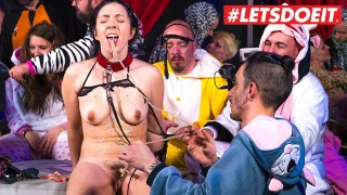 LETSDOEIT - Big Ass Babe Tortured In Kinky Pijama Party
