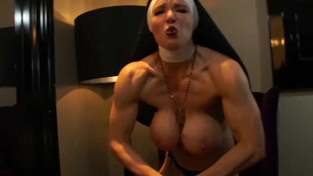 Naked catholic nuns Muscular nun humiliates you with muscle comparison