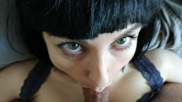 Use her submissive mouth like a cumbucket