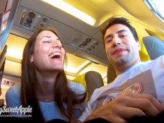 Risky blowjob in a plane to berlin - mile high club - amateur mysweetapple | Recorded Cam Show
