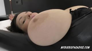 New Big Tits star Talia Amanda in spandex and bra and super sexy high heels