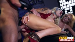FAKEhub Space Taxi alien chick with huge tits in threesome