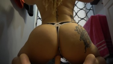 PAWG Big Ass Panty Reverse Cowgirl Ride