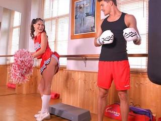 Shaved Cum xxx: Shaved pussy licking & deep penetration makes cheerleader Lana Seymour cum