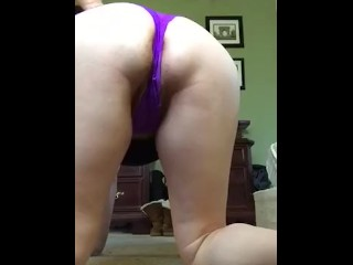 Face Down Ass Up Cougar Plays With Her Pussy