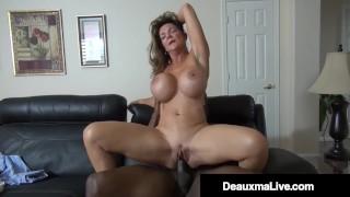 Horny Cougar Deauxma Fucks Big Black Cock Debt Collector