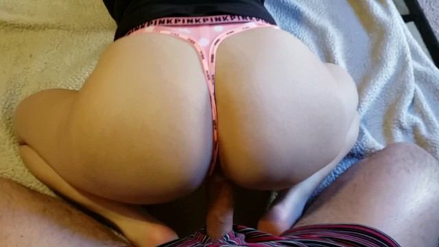 POV Riding Cock in new VS PINK Thong