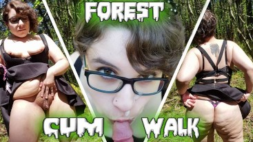 BBW Hikes and Fucks in Public and Walks back with CUM FACIAL! *Short*