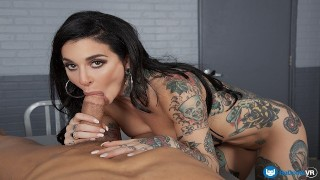BaDoinkVR.com Tattooed Babe Joanna Angel Fucked In Your Interrogation Cell