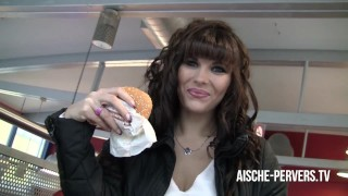 public blowjob inside burger store with tasty cumshotburger – teen porn