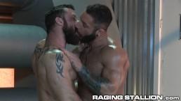 RagingStallion BAREBACK FUCK 4 These Hot Hairy Muscle Hunks!!
