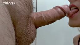 Close Up Blowjob For A Friend, Deepthroat, Cum In Mouth, 4K - LittleLaces