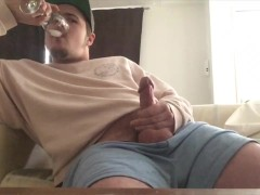 Guy Moans & Drinks Cum! Multiple Orgasms, Vocal Male!