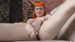 Hairy tattooed chick Ember takes selfies and masturbates with sex toy