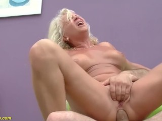 sexy 73 years old mom first big cock anal fuck lesson